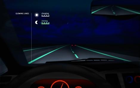 Smart Highway-glowing lines-Studio Roosegaarde